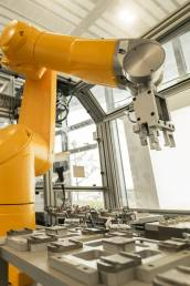 Advance Manufacturing robot working on assembly line